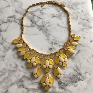 Kate Spade yellow statement bib necklace